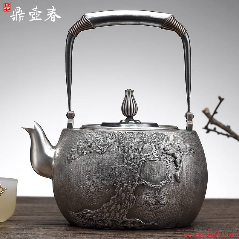 Period of children master hand maker calligraphy silver pot of pure manual a sterling silver teapot tea set