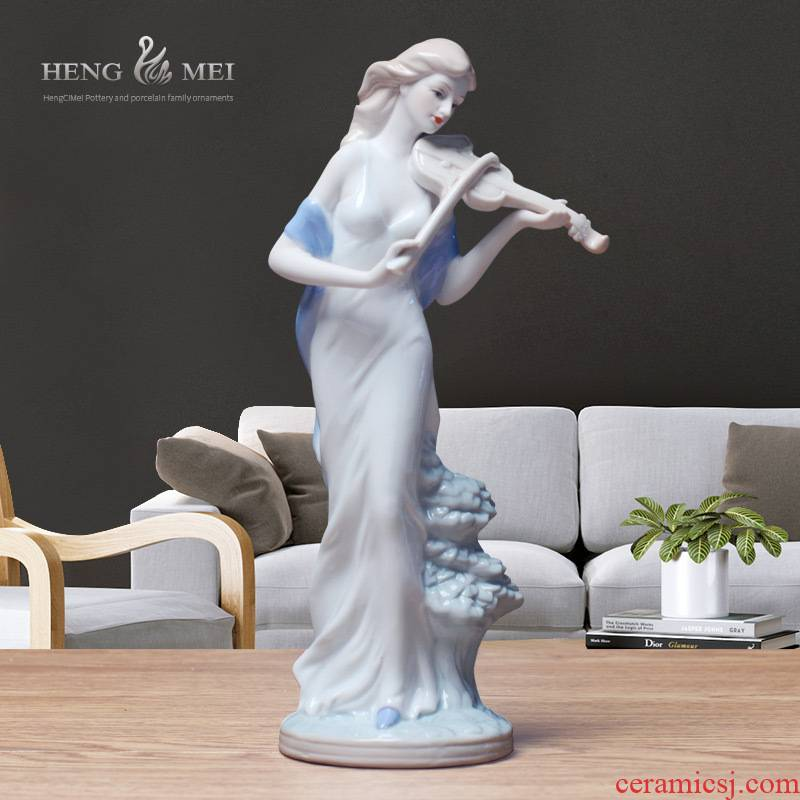 Western women 037 European/furnishings jingdezhen/handicraft/home decoration ceramic its furnishing articles