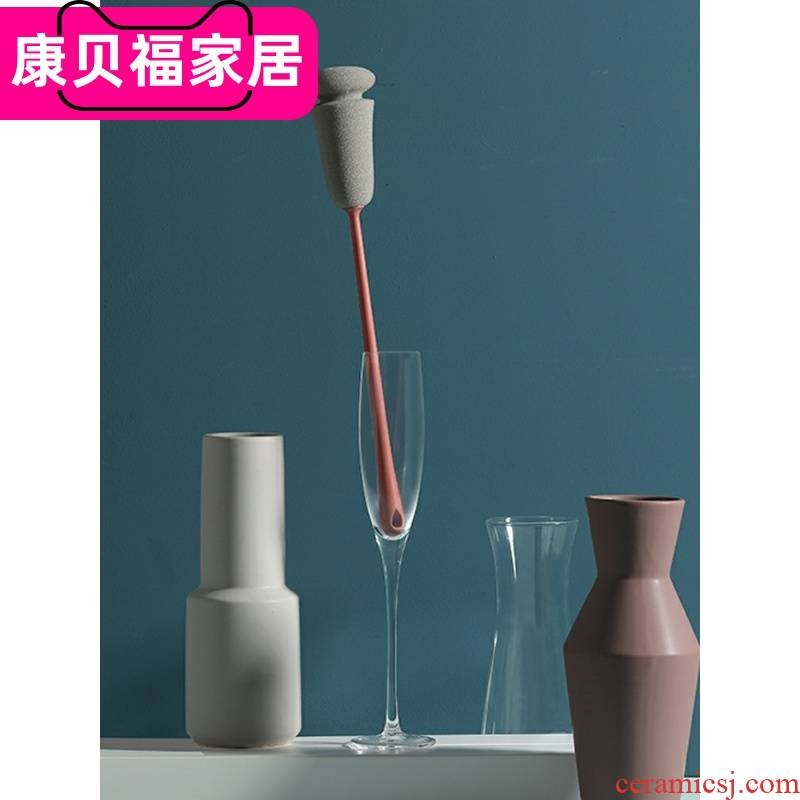 Wash the glass an artifact cup brush brush long handle the clean tea bottle rinse household kitchen no dead Angle sponge cleaning brush
