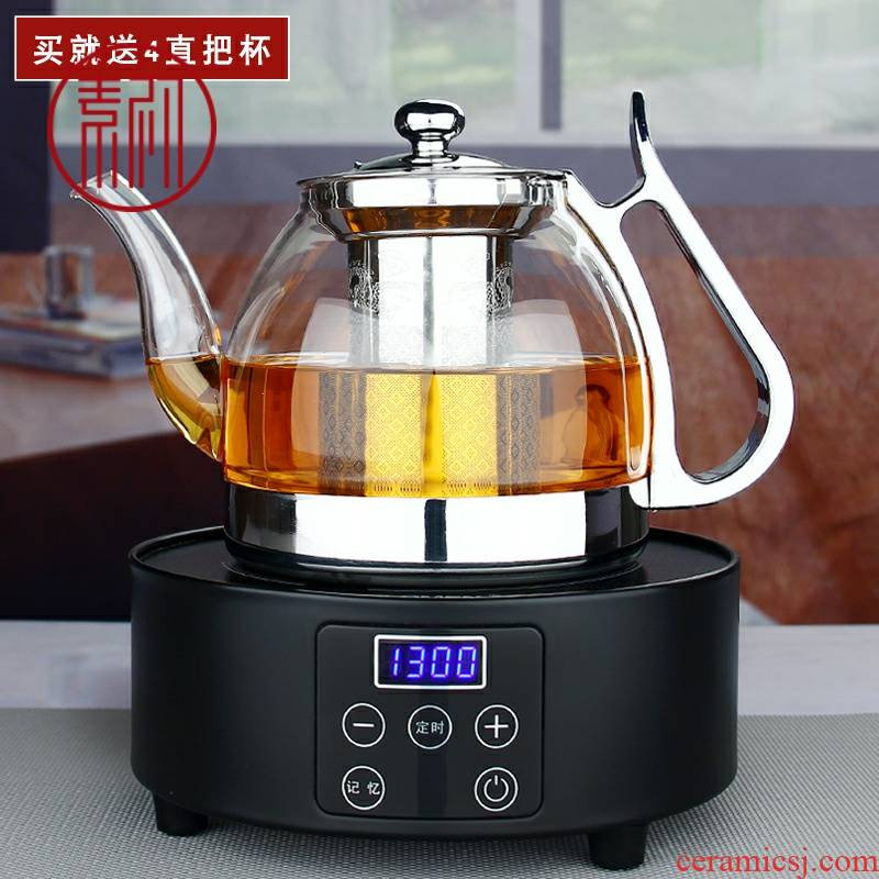 Element at the beginning of induction cooker cooking pot more heat resistant glass teapot electric TaoLu special kettle scented tea teapot