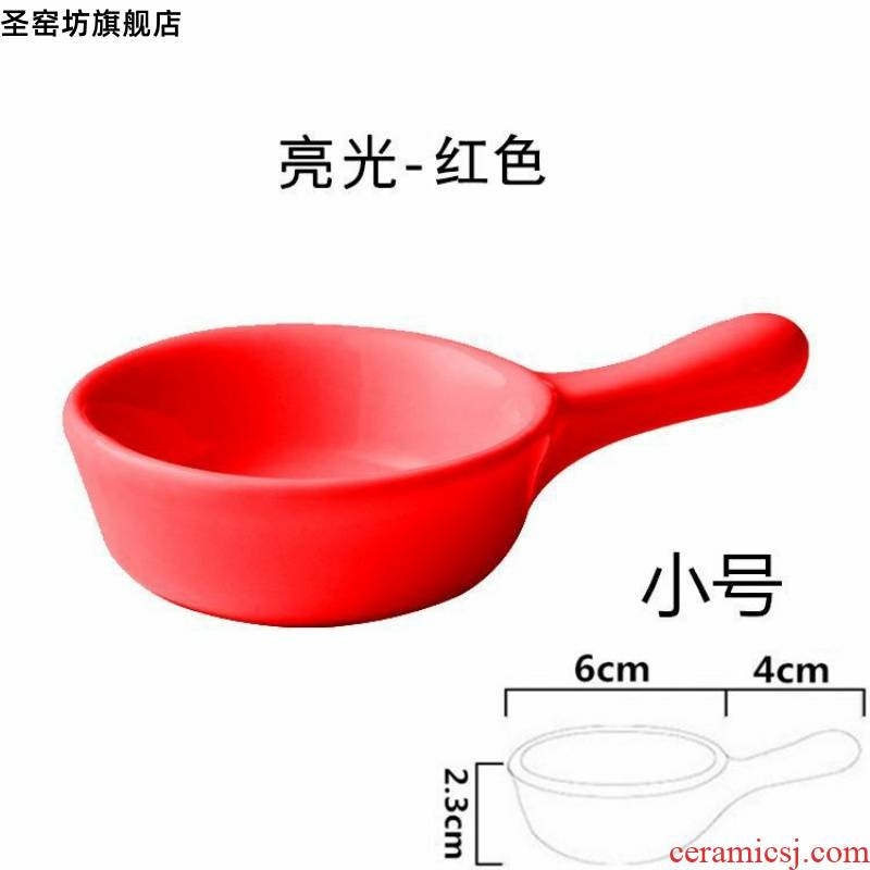 With the handle disc dip creative lovely tableware disc table vinegar dish dish taste plate dip disc creative dish dish