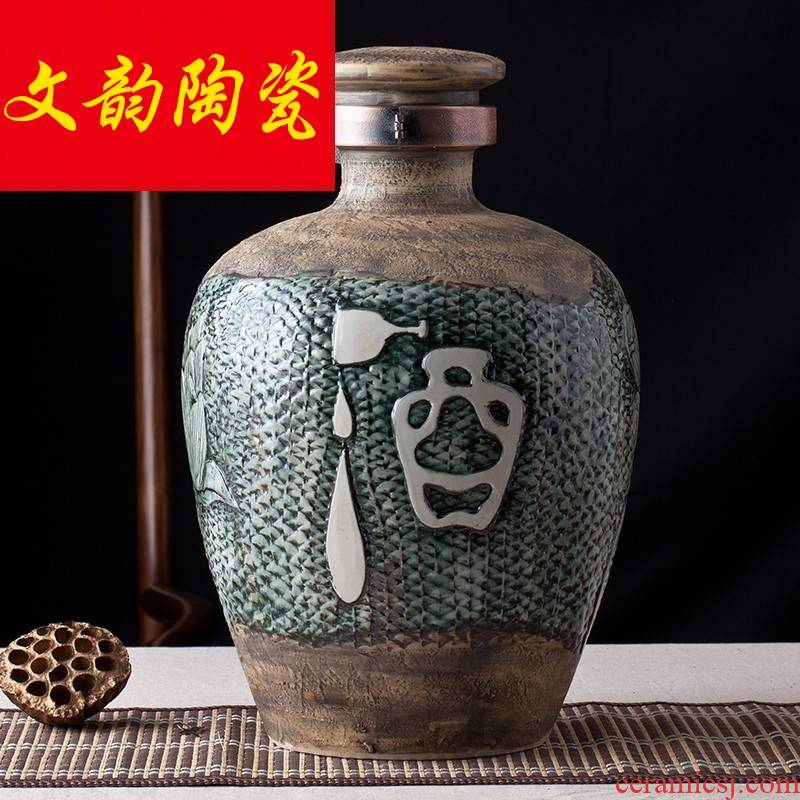 Hoard jars sealed jar jar of wine jar sealing jars 10 jins to jingdezhen ceramic wine