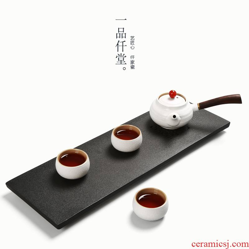 Yipin # $rectangle kongfu tea tray ceramic water storage type restoring ancient ways a simple single large dry terms