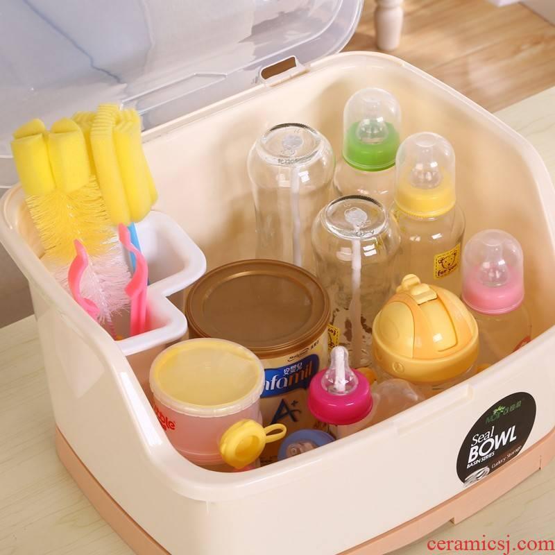 Baby put chopsticks rack plate tableware kitchen drop bottle box put rack store cupboard Baby buy shelf