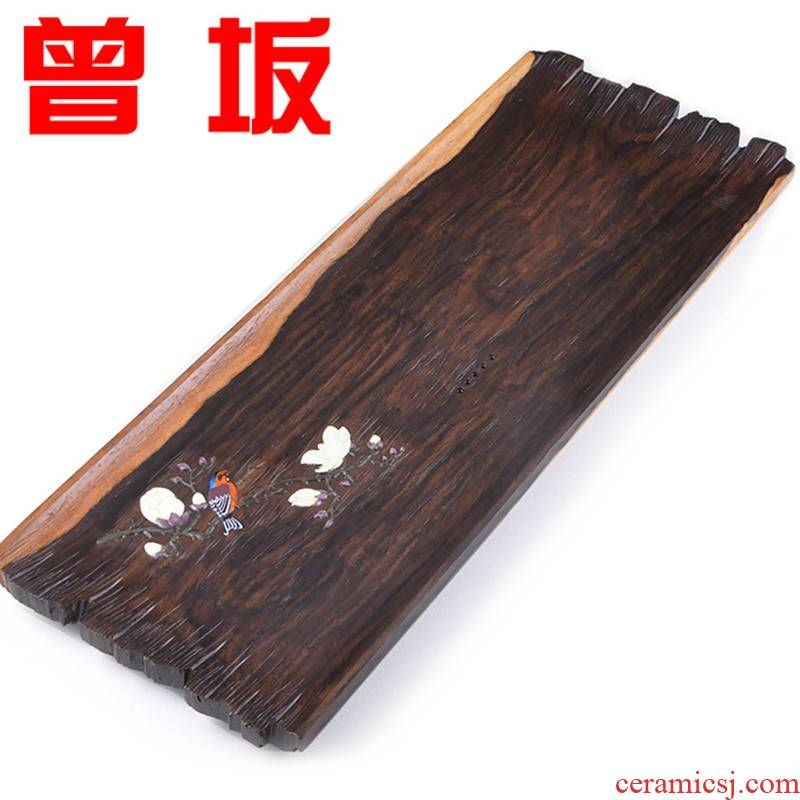 Once sitting ebony the whole piece of tea table saucer plate dry terms plate tea tray ebony kung fu tea tea tray was solid wood
