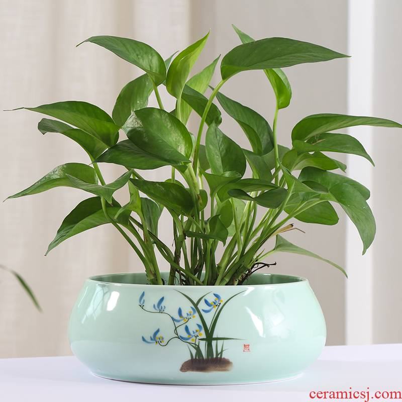 Other special copper grass hydroponic flower pot large clearance of pottery and porcelain vessels contracted daffodil aquatic plant bowl lotus