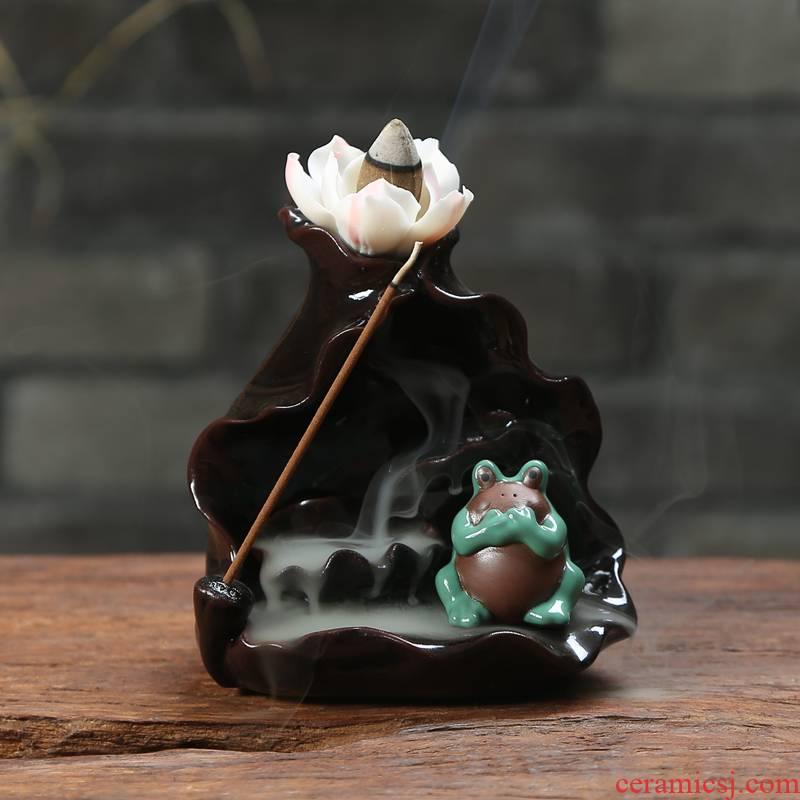 Art of creative flow back home tea fragrant antique incense buner ceramic base Chen xiang xiang xiang ta indoor line