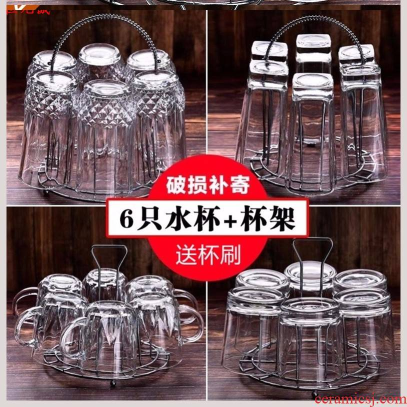 Thickening of the heat - resistant lead - free glass tea cup iron heat proof with handles beer ultimately responds a cup of tea cup with only 6.