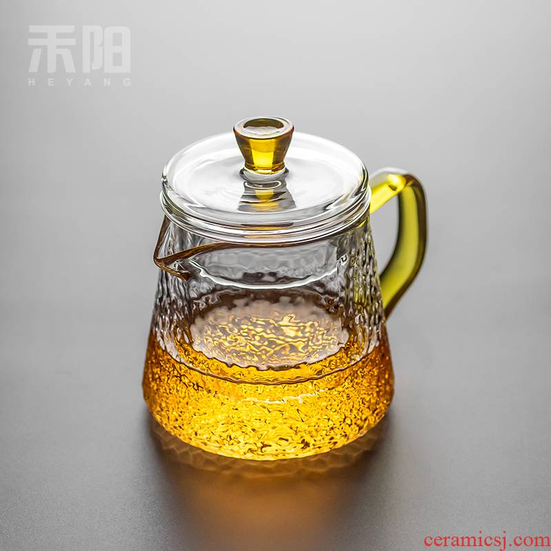 Send Yang glass teapot tea set household filter teapot high - temperature hammer thickening kung fu cooking pot