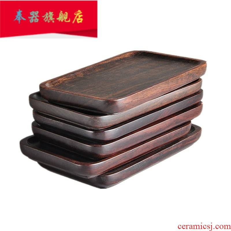 Ebony wood tea cup mat cup mat tea kung fu tea saucer creative tea accessories full thermal insulation