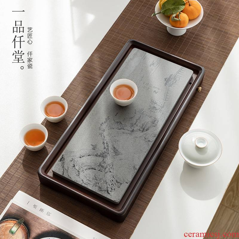 Heavy bamboo yipin micky hall Shi Ying, tea tray storage disk office doing mercifully tea set household contracted small tea table