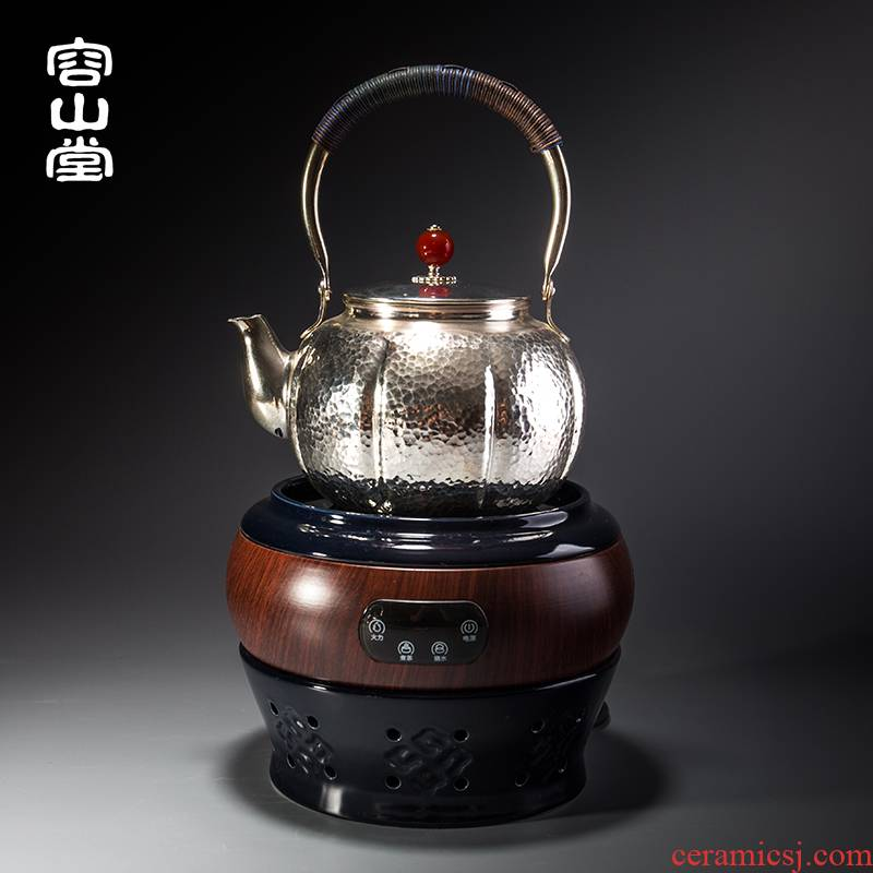 Vatican capacity of river, pure copper teapot silver plated silver pot of thickening large Japanese kettle what jade button by hand
