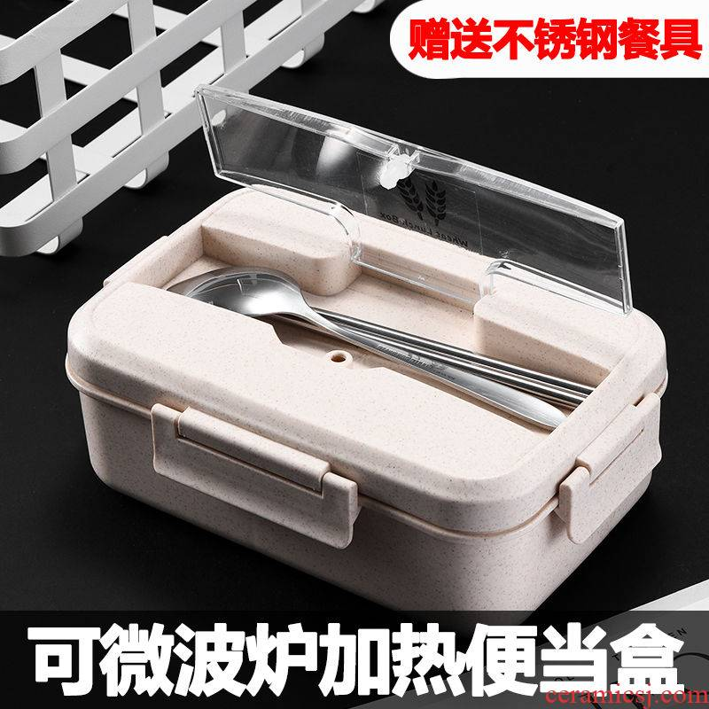 Han edition with cover, lovely ladies lunch box students tableware suit commuters microwave bento bowl chopsticks children 's lunch boxes