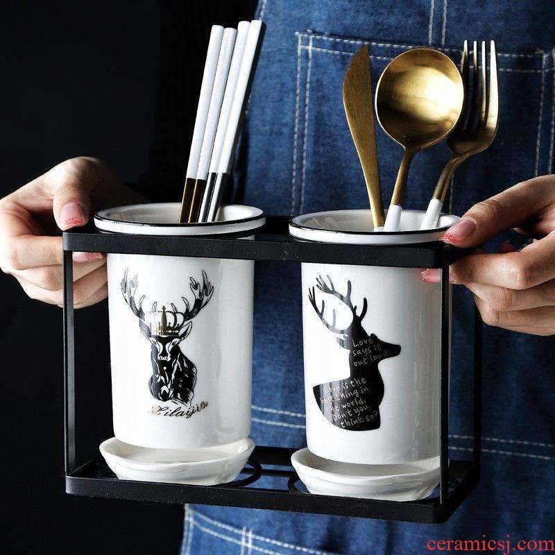 Shelving kitchen household chopsticks box frame may receive chopsticks tube ltd. ceramic basket chopsticks chopsticks drop
