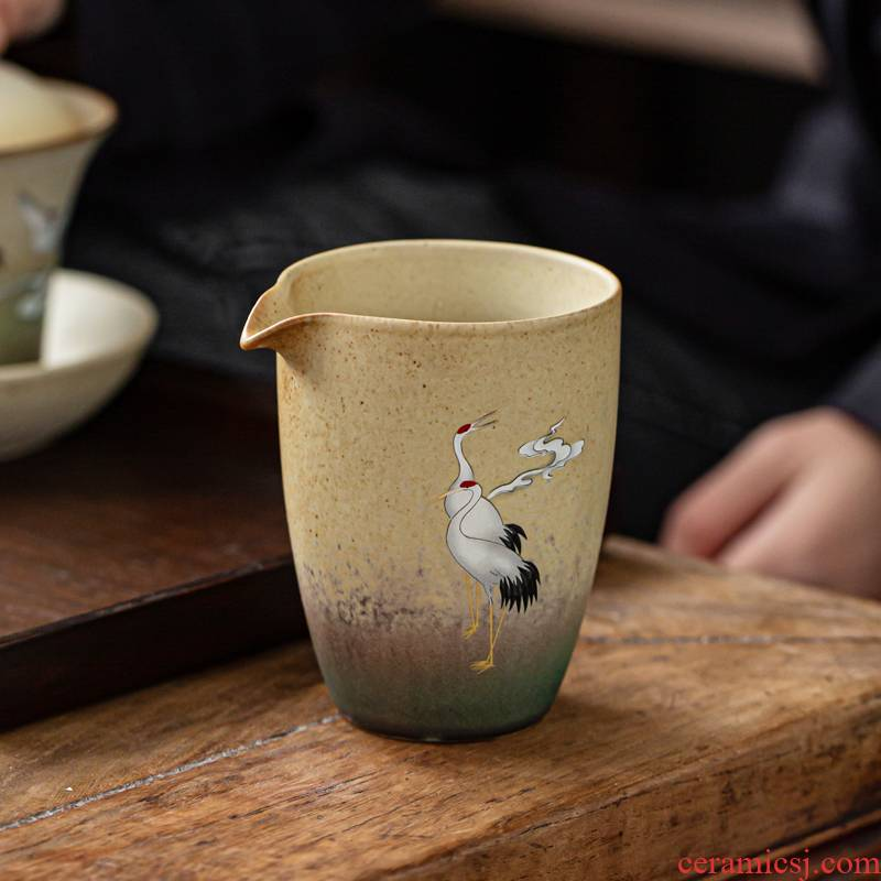 Japanese style restoring ancient ways cranes as up ceramic fair keller cup of tea and sea glass kung fu tea tea accessories points