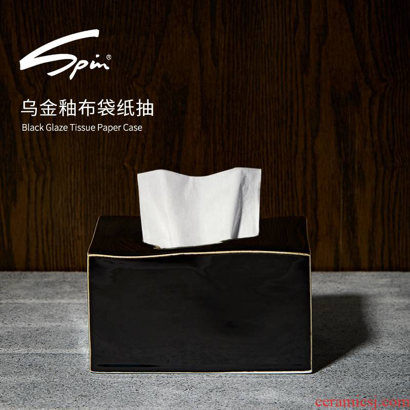 Spin sharply pumping light much creative ceramic glaze paper towel box of smoke box sitting room tea table household contracted paper box