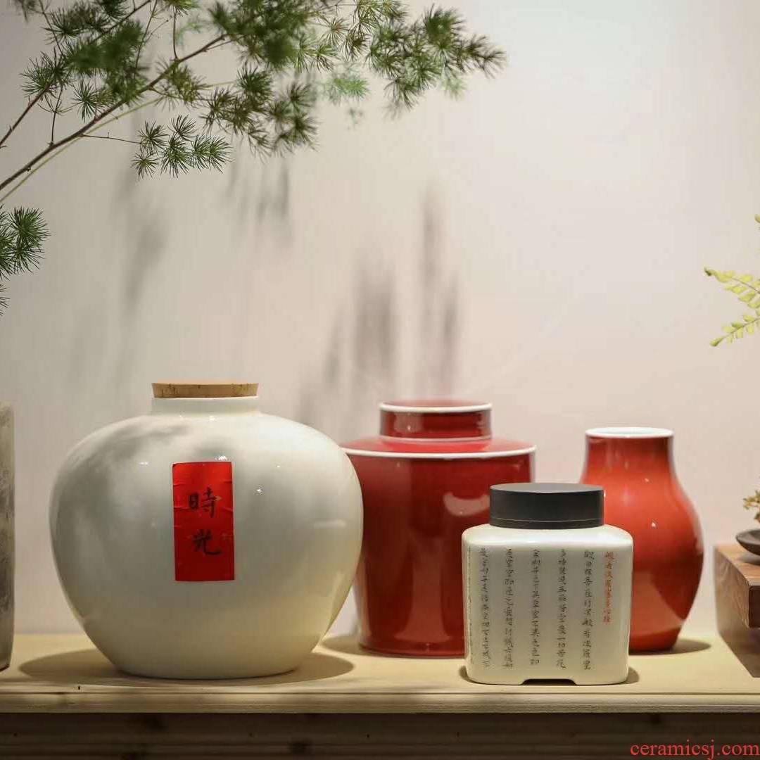 Lane. Pomegranate ceramic tea pot the great natural lawsuits sealed POTS of tea storage jar flower vase