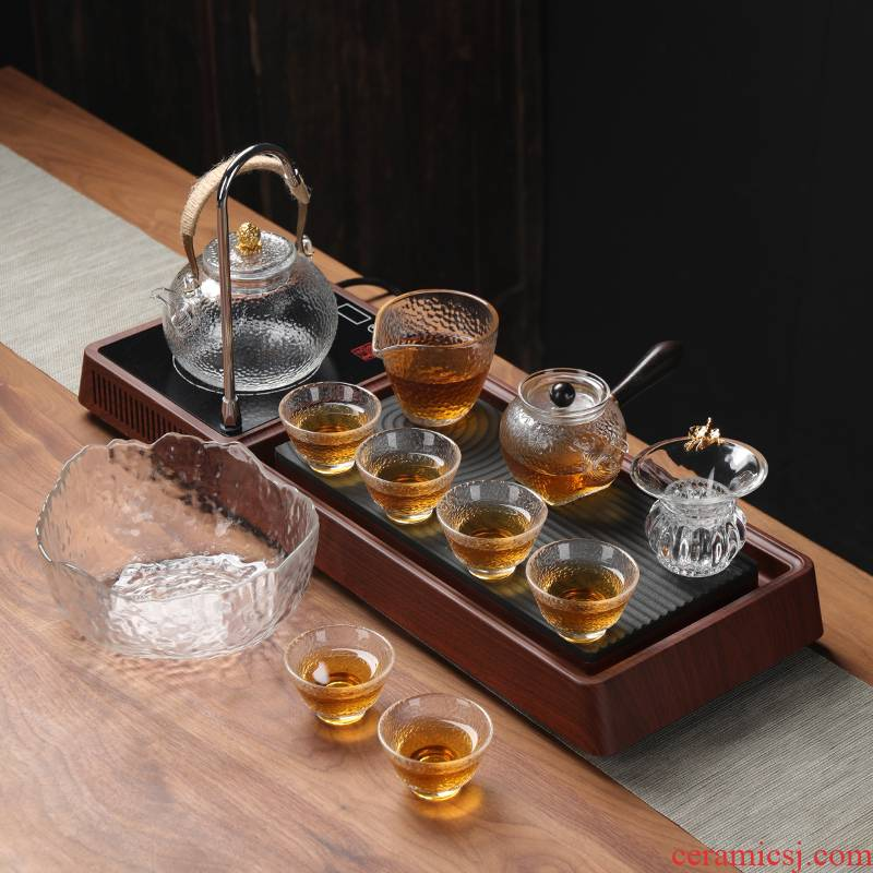 Japanese kung fu tea set home tea tea tea tea tray was contracted sitting room automatic modern office