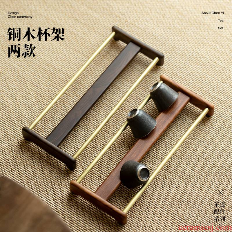 Cupholders paulownia shelf hanging crossover vehicle manual receive real wood frame double drop zen kung fu tea accessories