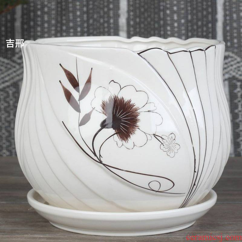 Special place like macrobian flower pot indoor ceramic yushu dedicated pot. The Color flower pot candy Color pottery