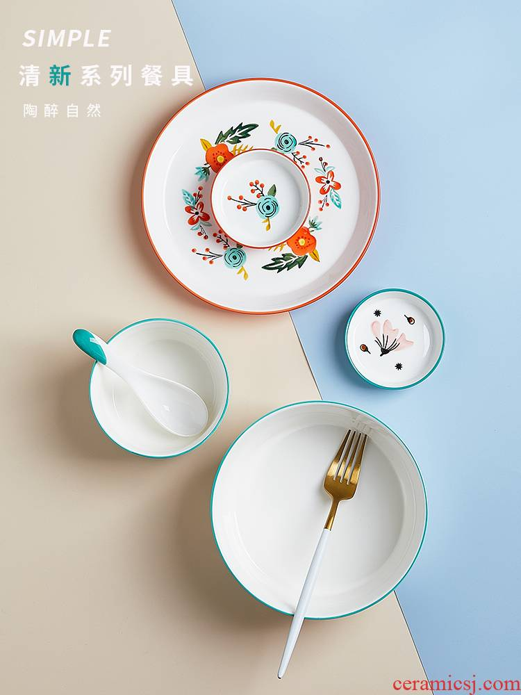 Japanese ins ceramic bowl home sweet soup bowl mercifully rainbow such as bowl bowl of creative move dishes tableware suit for breakfast