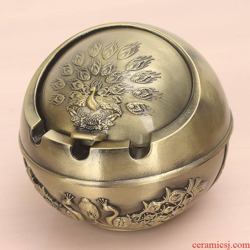 Rhinoceros, European - style ashtray wind restoring ancient ways with the cover and the metal to hold European - style home sitting room tea table of creative move