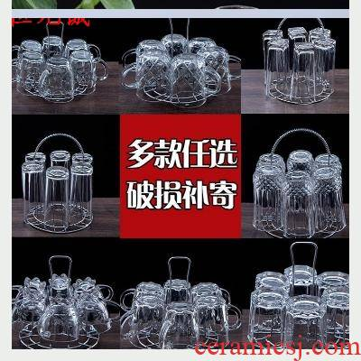 6 pack Glasses suit household glass high - temperature tea cup ultimately responds cup lead - free more beer