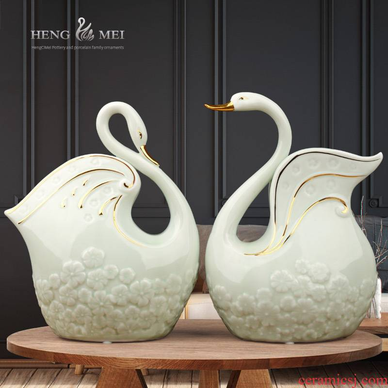 Creative ceramic fat chicago-brewed goose room home wine ark, adornment household furnishing articles contracted sitting room the bedroom TV ark, decoration