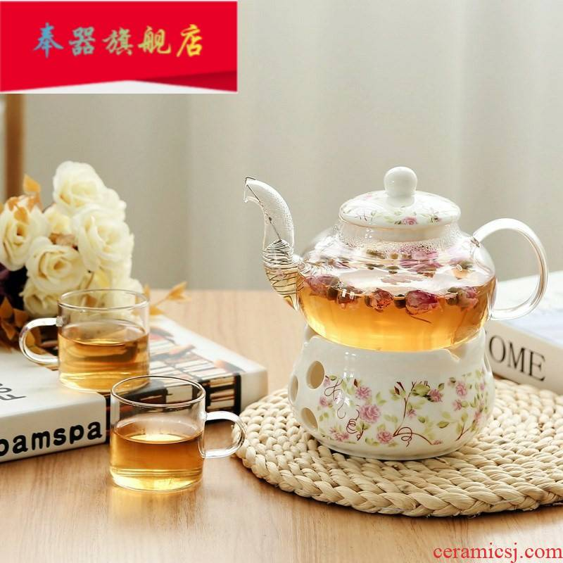 Candles curing pot of boiled tea ware glass fan of a small number of small boiling tea based tea scented tea 1 the teapot