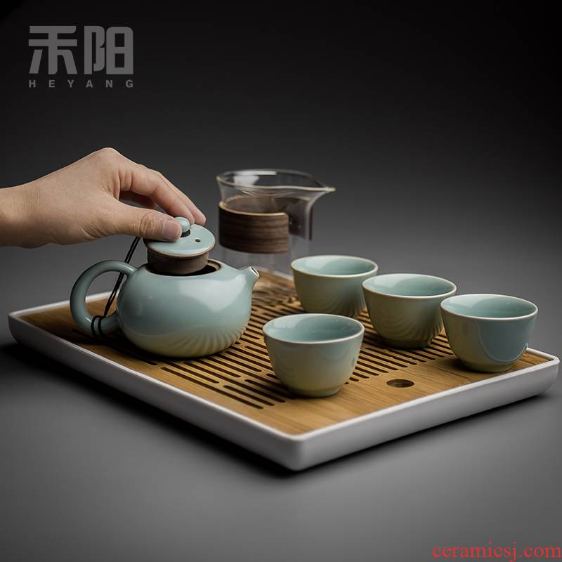 Send Yang your up tea suit household utensils ceramic cups of a complete set of your porcelain piece of kung fu tea set the teapot tea tray
