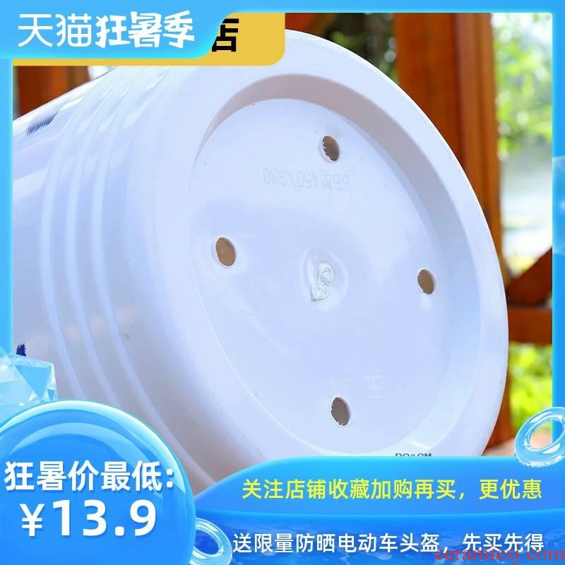 Rich, heavy flower landscape flowerpot large imitation flowerpot quality plastic bag mail sent tray balcony resin ceramics