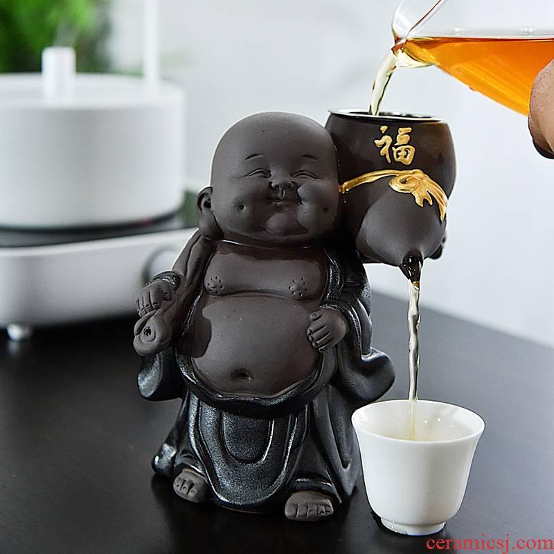 Purple sand tea pet for its ehrs small place water pet lovely maitreya filtering kung fu tea tea tea accessories household