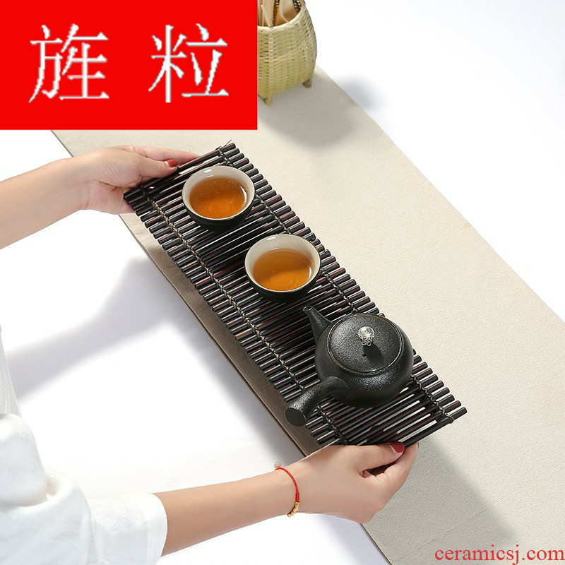 Continuous grain dry terms plate simple Japanese ground travel to serve the saucer single heavy bamboo tea tea tea