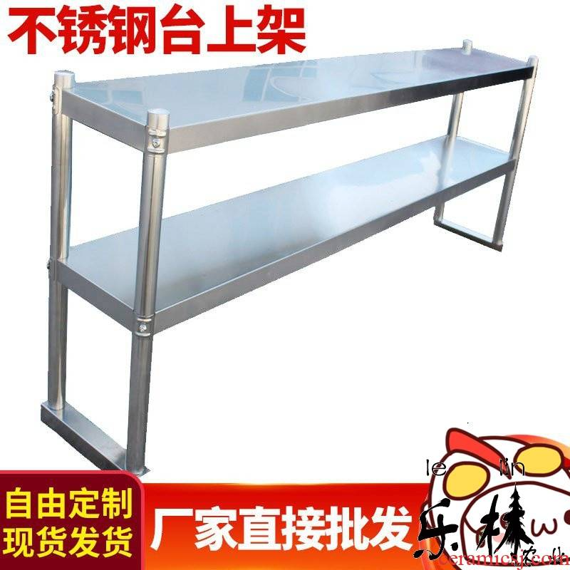 Floorstand shelves set stainless steel mesa work ltd. milk tea shop shelves fridge water kitchen production of multilayer