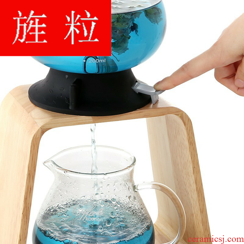 Continuous grain of Japanese water tower glass teapot switch, stewed tea Japanese cold extraction flower pot 1 l