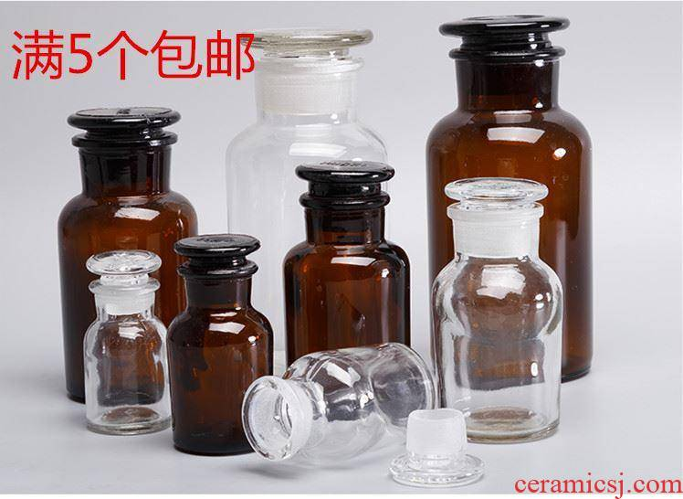 Covered with white cover small square 1000 l thickening bottled wine glass bottle frosted jar expressions using reagent bottles