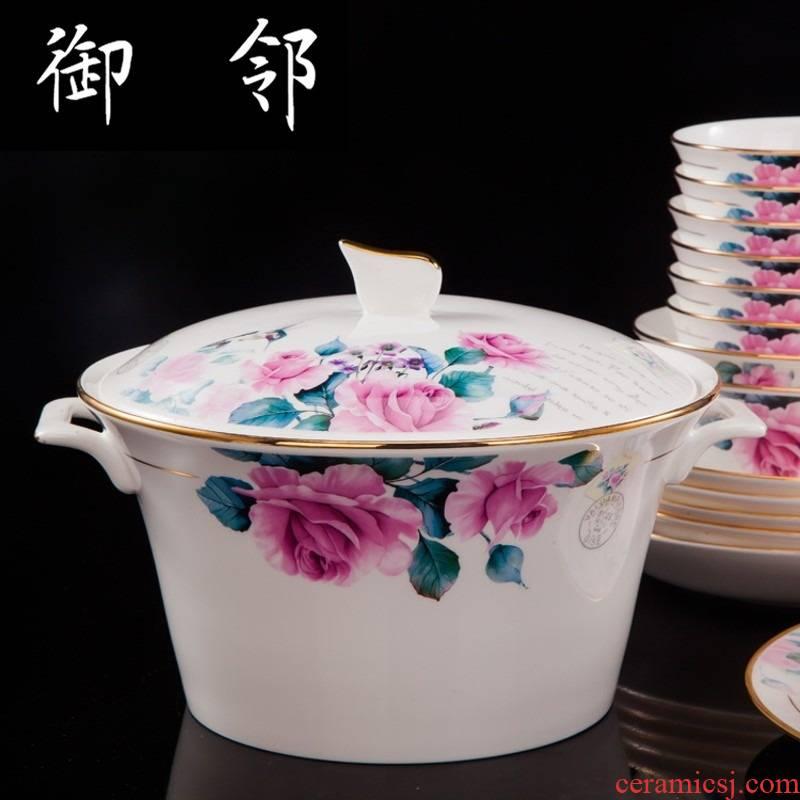 Propagated jingdezhen ceramic tableware tableware ceramics tableware 60 head bowl dish dish gift set suits for