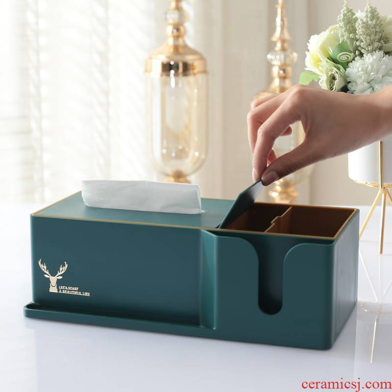 Receive a case multi - function remote control light excessive tissue boxes sitting room tea table Nordic creative household smoke box restaurant