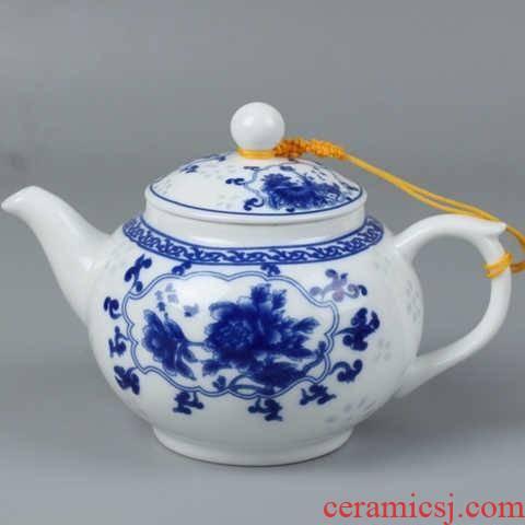 Jingdezhen ceramic single pot small white CiHu household blue and white porcelain large high white porcelain tea pot of the teapot