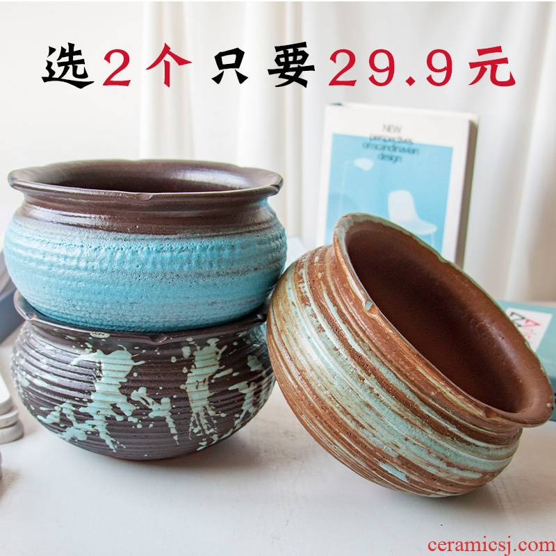Extra large plant pot is more meat flowerpot more coarse pottery, green plant old running the creative other ceramic platter on sale