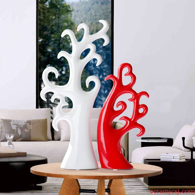 Household act the role ofing is tasted individuality present modern furnishing articles sitting room adornment ceramics decoration creative love tree