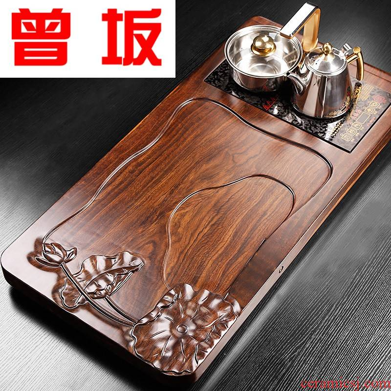 The Who -- tea tray with induction cooker suit a whole household of Chinese style wood dry tea contracted office for tea