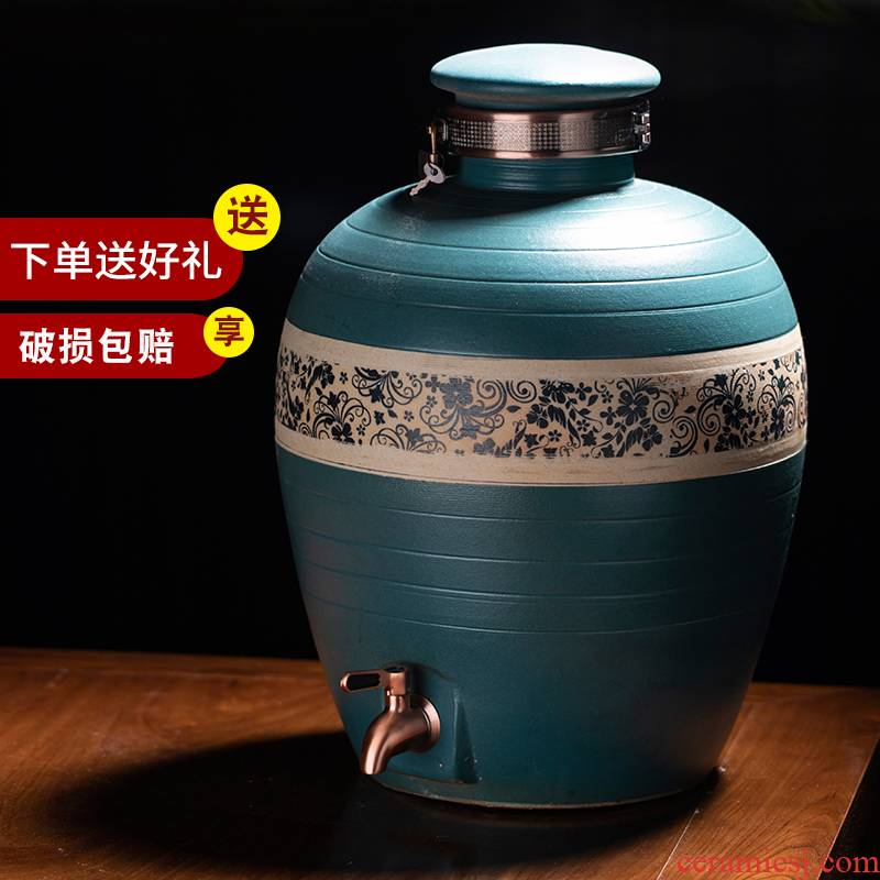 Jingdezhen ceramic jars it bottle sealed jar pot home (50 kg/mercifully jars