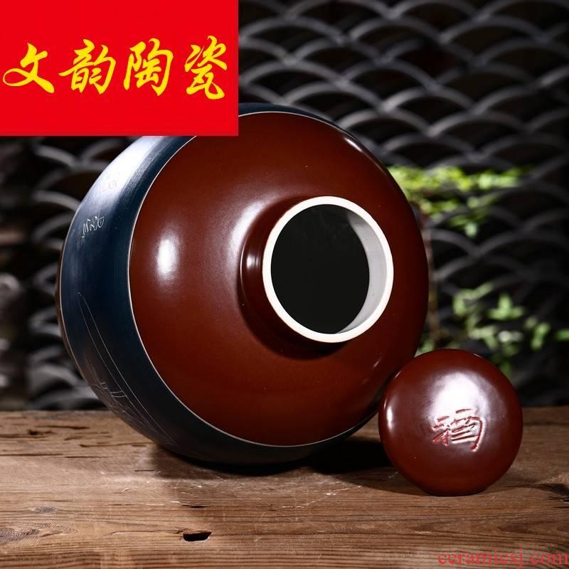 Jingdezhen ceramic jar 10 jins 20 jins 30 jins home it how antique pot liquor bottles