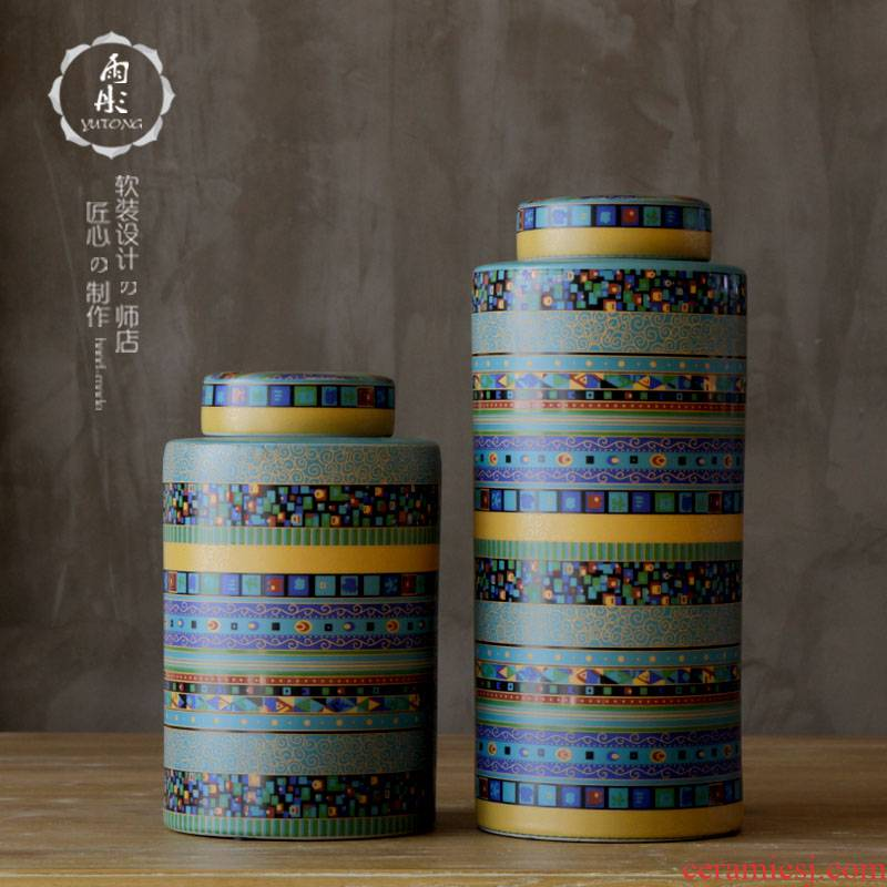 Rain tong home | jingdezhen ceramics creative color drum home furnishing articles furnishing articles ceramic pot/sitting room porch