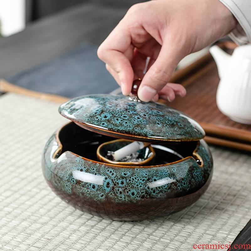 Ceramic and fly ash ashtray size of creative move fashionable Nordic home sitting room adornment is placed
