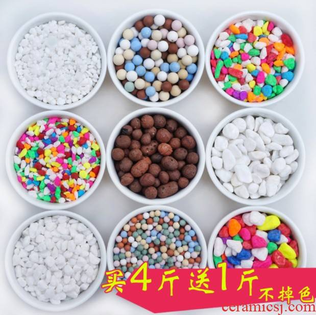 . A hydroponic gardening plant color small gravel stones furnishing articles bath crock, fleshy stone decorative colorful potted ceramsite