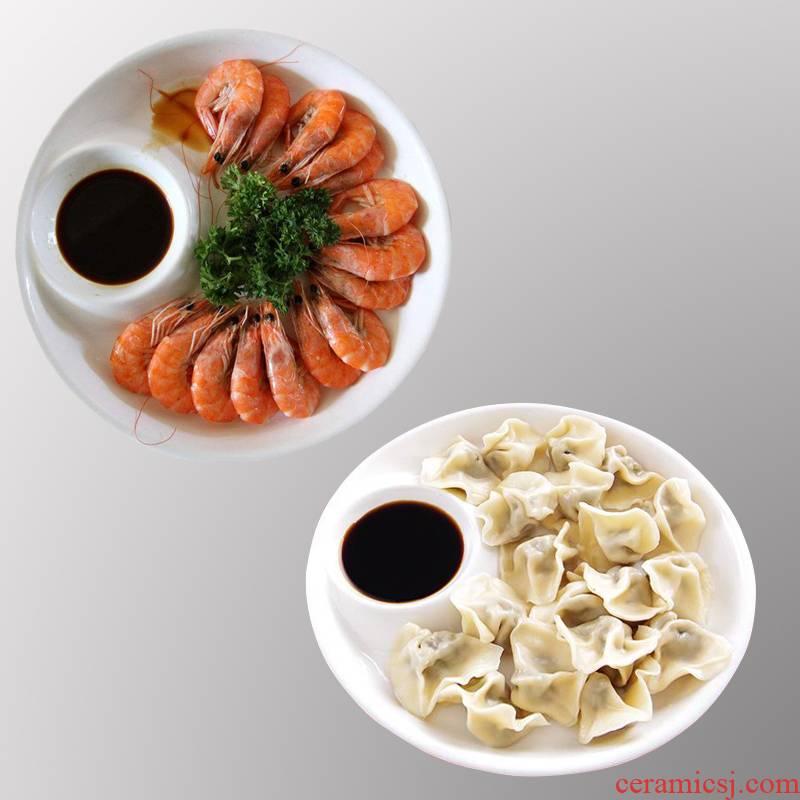 Creative dumplings dribbling vinegar disc ceramic tableware shrimp dish dish home fries snacks dish breakfast dish fruit bowl