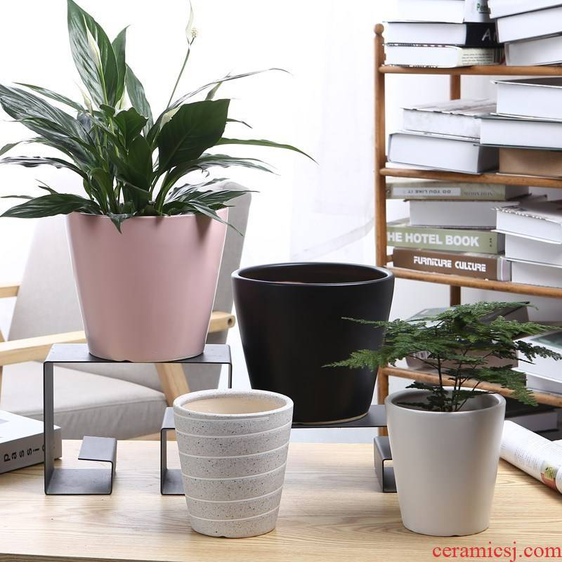 To decorate medium plant diameter circular flower pot household ceramics large is suing potted dormitory aloe individual.