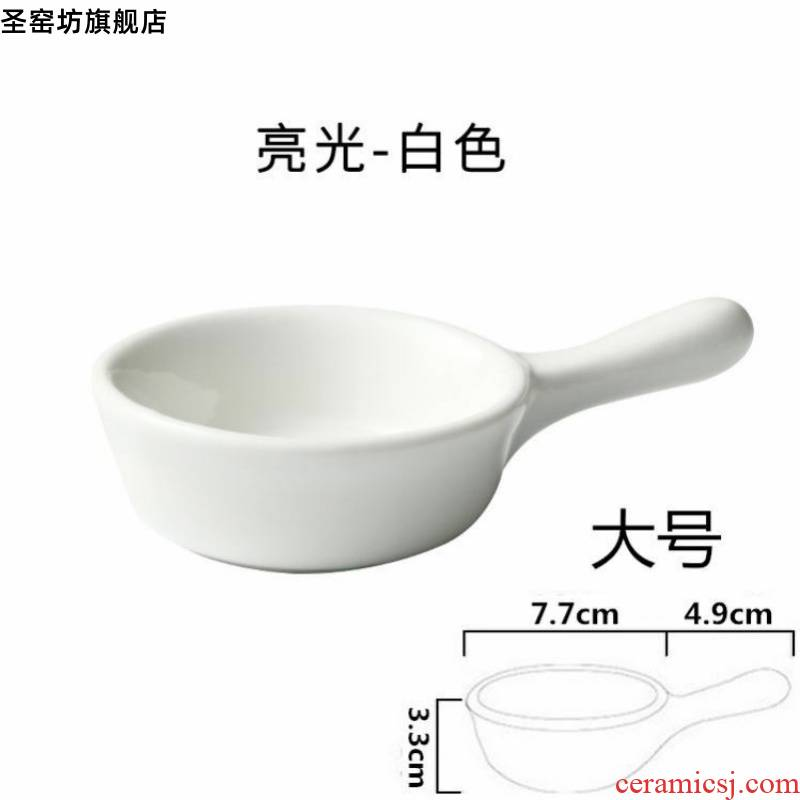 With the handle vinegar sauce to vomit ipads plate oil dish dish dish dish of soy sauce flavor vinegar disc ceramic tableware vinegar sauce dish dish dab of a plate